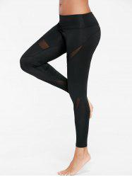 Mesh Insert Tight Gym Leggings
