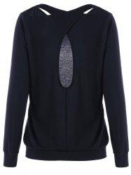Sweat à capuche Criss Cross - Noir M