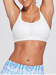 Cutout Padded Criss Cross Sports Bra -