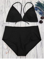 Plus Size High Waisted Bikini Set -