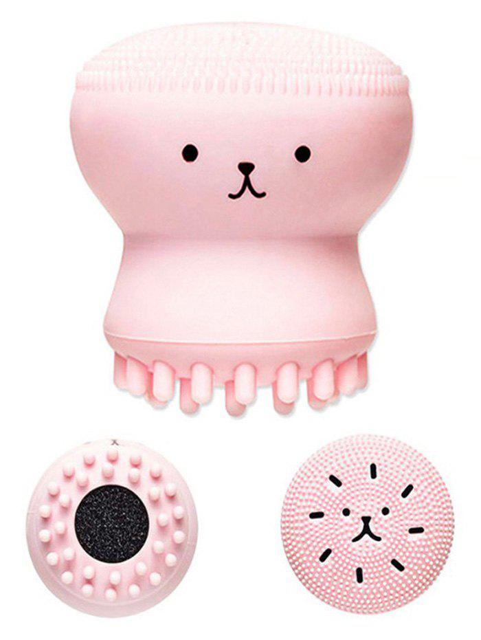 Silicone Octopus Double Head Facial Cleansing BrushBEAUTY<br><br>Color: PINK; Category: Cleansing Apparatus; Brush Hair Material: Others; Features: Limits Bacteria; Season: Fall,Spring,Summer,Winter; Weight: 0.1000kg; Package Contents: 1 x Cleansing Brush;