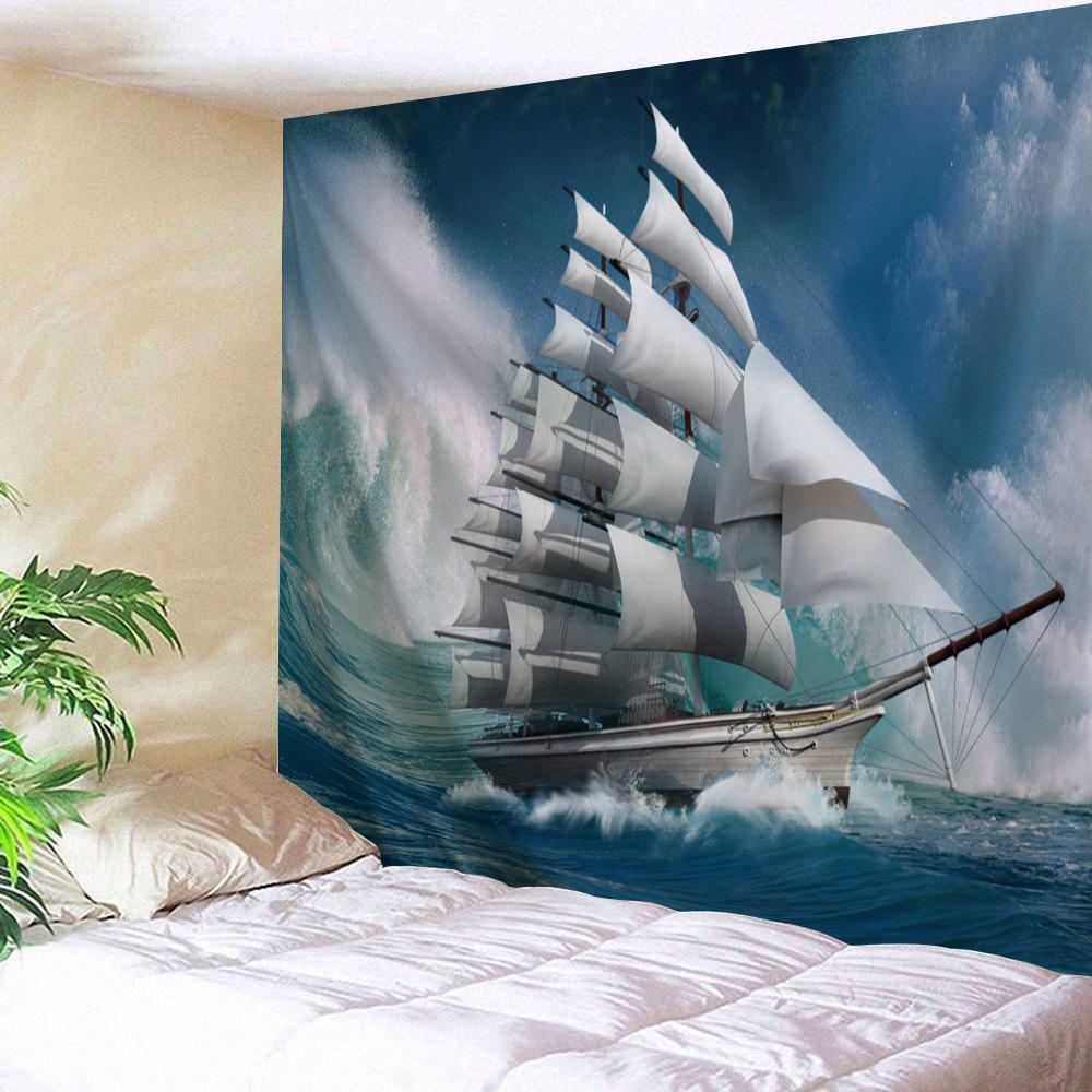 Nautical Scenery Wall Art TapestryHOME<br><br>Size: W59 INCH * L51 INCH; Color: COLORMIX; Style: Natural; Theme: Landscape; Material: Polyester; Feature: Removable,Washable; Shape/Pattern: Print; Weight: 0.1800kg; Package Contents: 1 x Tapestry;
