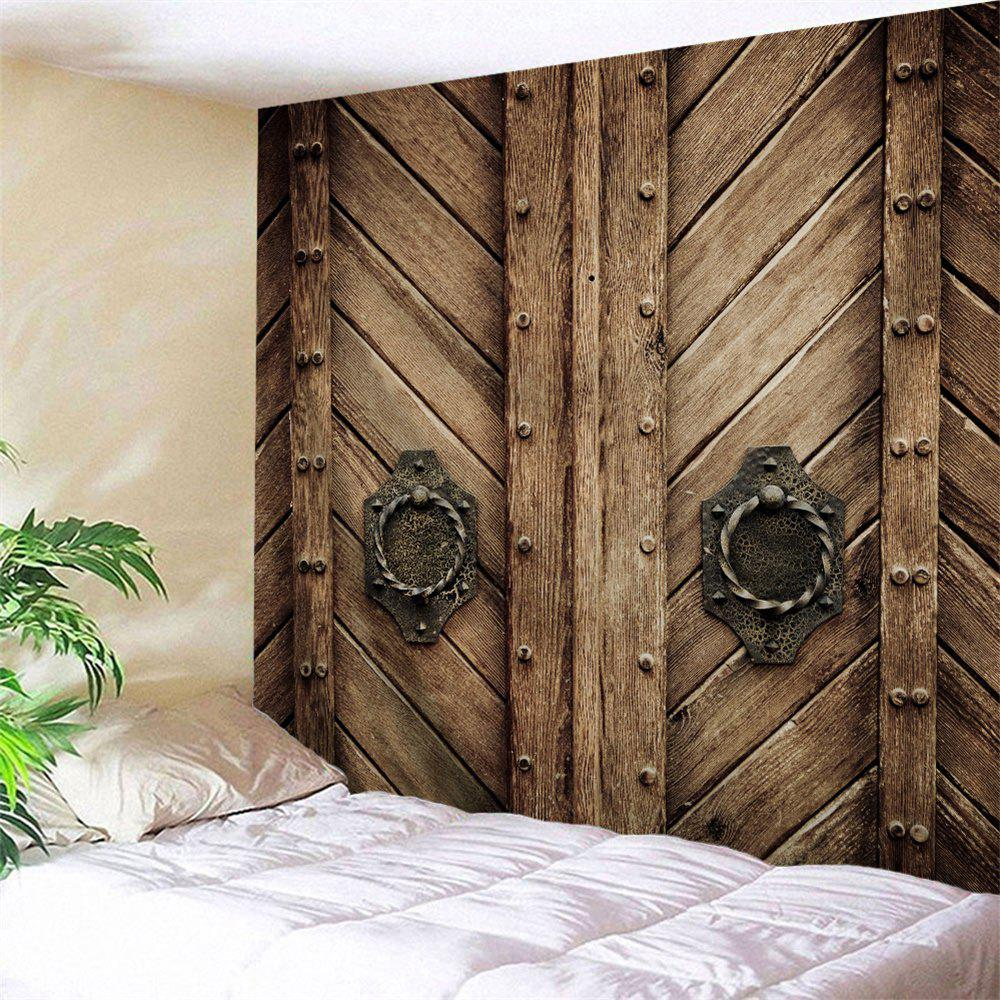 Shops Natural Wood Door Print Wall Tapestry