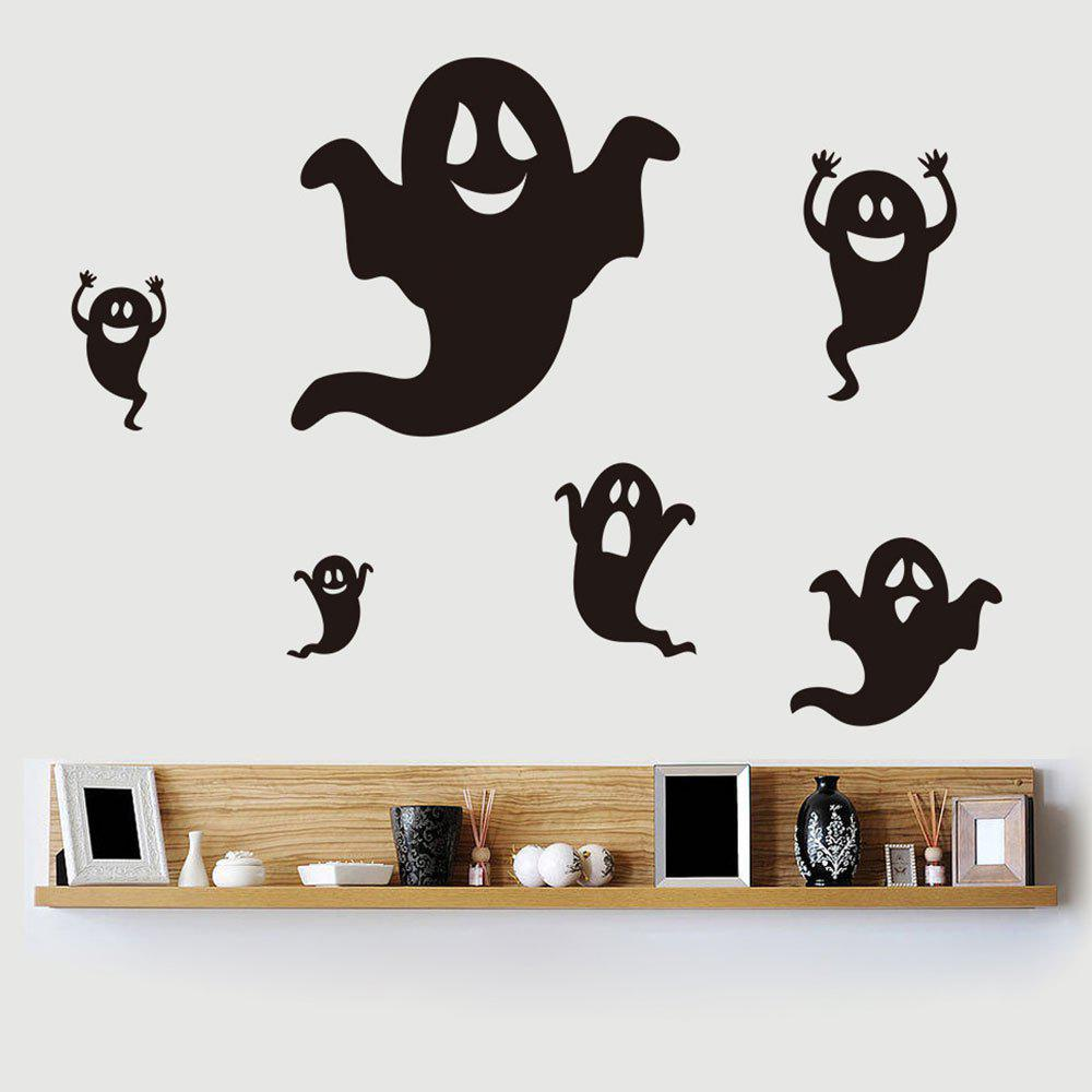 Home Decor DIY Halloween Ghost Shape Wall StickersHOME<br><br>Color: BLACK; Wall Sticker Type: Plane Wall Stickers; Functions: Decorative Wall Stickers; Theme: Halloween; Material: PVC; Feature: Removable; Weight: 0.1850kg; Package Contents: 1 x Wall Stickers (Set);