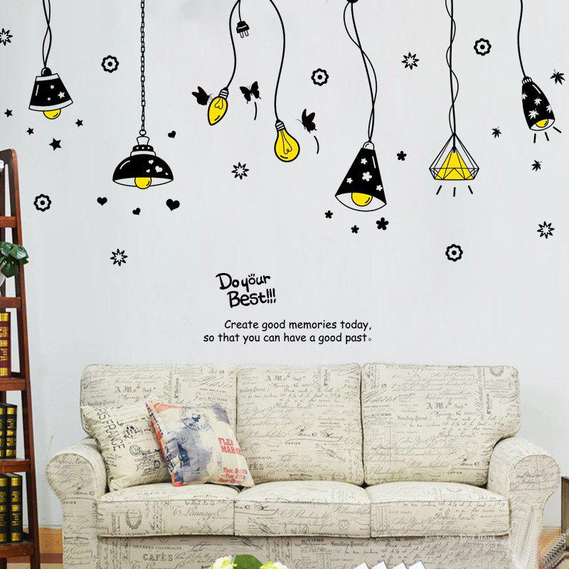 2018 Cartoon Ceiling Lamp Letters Removable Wall Art Stickers In ...