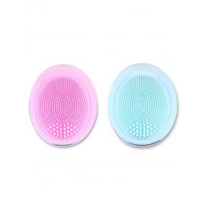 Deep Pore Skin Cleansing Silicone Face Massage Instrument - ROSE PÂLE