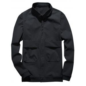 Double Pockets Cover Placket Cargo Jacket