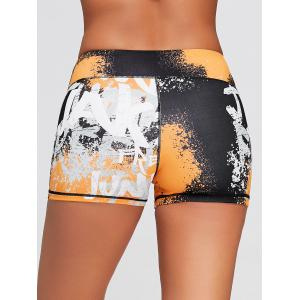 Tie Dye Hit Color Sports Tight Shorts - MULTICOLOR L