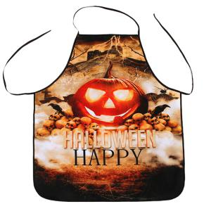 Halloween Pumpkin Print Kitchen Cooking Apron