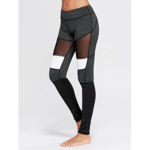 Two Tone Workout Tights with Mesh