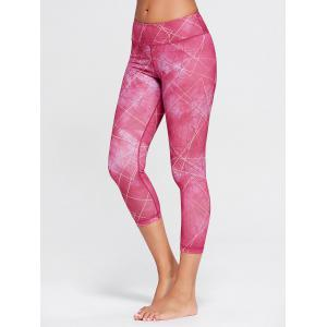 Capri Printed Workout Tights With Pocket