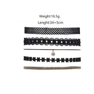 5 Pieces Layered Punk Choker Necklace -