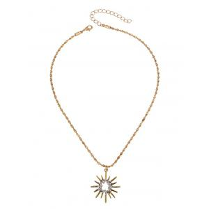 Barbed Hollow Sun Embellished Pendant Necklace