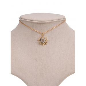 Barbed Hollow Sun Embellished Pendant Necklace -