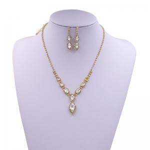 Rhinestone Infinity Necklace and Earrings