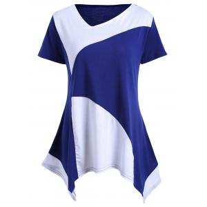 Asymmetrical Color Block Tunic Tee