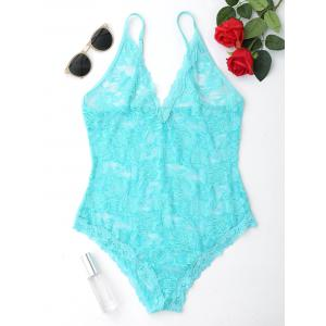 Cami Strap Lace Sheer Teddy