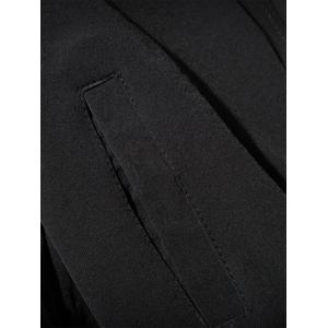 Cock Brodé Applique Zip Up Jacket - Noir 3XL
