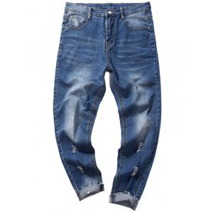 Destroyed Taper Fit Nine Minutes of Jeans