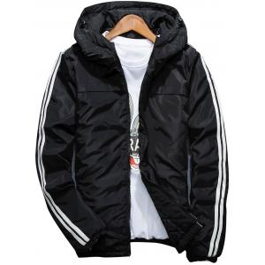 Stripe Zip Up Down Jacket
