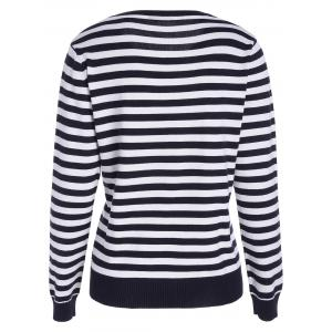 Lobster Print Striped Pullover Knitwear - BLACK WHITE ONE SIZE