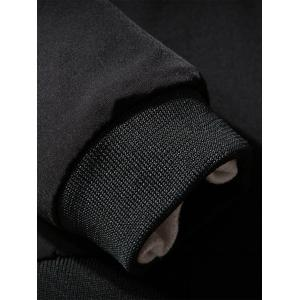 Maquillage facial brodé Zip-Up Jacket - Noir 2XL