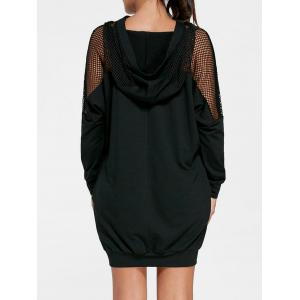 Hooded Batwing Sleeve Mini Dress