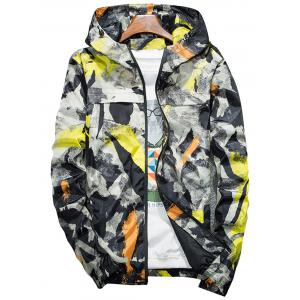Camouflage Splatter Paint Lightweight Jacket