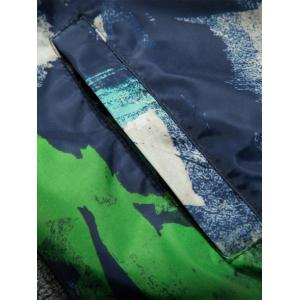 Camouflage Splatter Paint Lightweight Jacket - BLUE 2XL