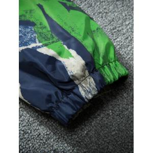 Camouflage Splatter Paint Lightweight Jacket - Bleu M