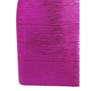 Cut Out Bronzing Sweetheart Neck Bandage Dress - SANGRIA M