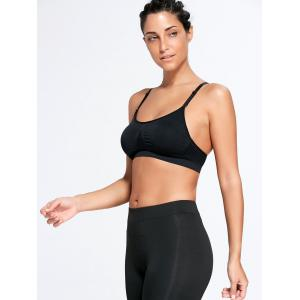 Adjustable Comfortable Sports Padded Bra - BLACK S