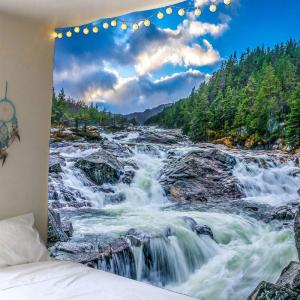 Cascades Forest Waterproof Wall Hanging Tapestry