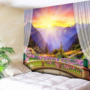 Colorful Valley Print Wall Art Tapestry