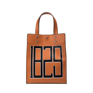 Figure Print Studded Tote Bag -