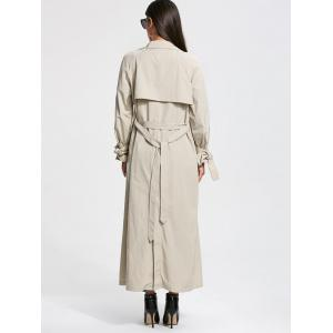 Belted Maxi Wrap Trench Coat - OFF-WHITE 2XL