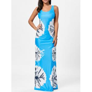 Floor Length Slit Tie Dye Tank Dress