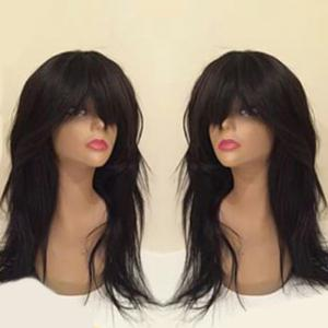 Full Bang Long Slightly Curly Synthetic Wig