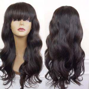 Long Neat Bang Body Wave Synthetic Wig