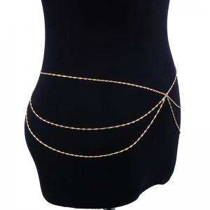 Belly Statement Body Chain - GOLDEN