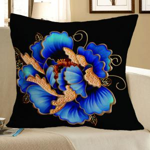 Floral Pattern Square Decorative Pillow Case