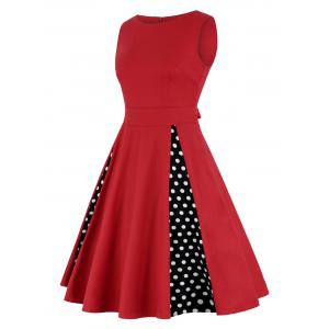 Robe à rayures haute taille - Rouge M