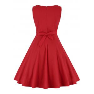 Robe à rayures haute taille - Rouge 2XL