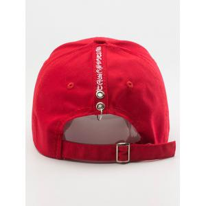 Letters Embroidered Back Baseball Hat - RED