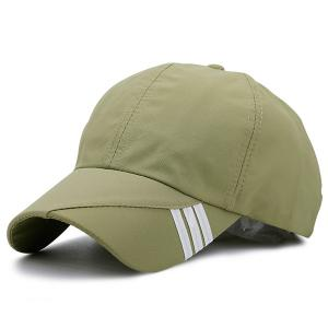 Diagonal Striped Embellished Baseball Cap - Apple Green