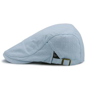 Plaid Nostalgic Flat Cap - Light Blue - 42