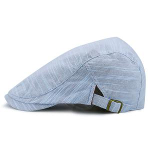 Nostalgic Pinstripe Flat Cap - Light Blue - 42