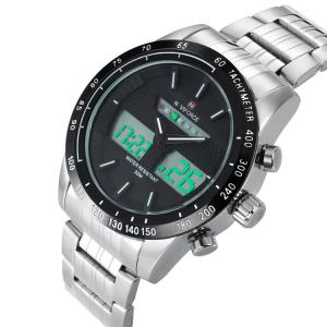 NAVIFORCE 9024 Tachymètre Luminous Quartz Digital Watch -