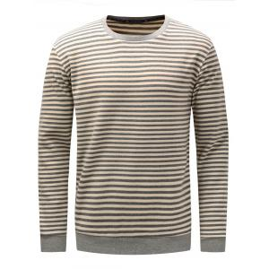 Stripe Long Sleeve Pullover Sweatshirt