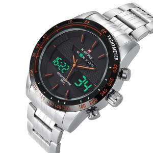 NAVIFORCE 9024 Tachymeter Luminous Quartz Digital Watch - ORANGE